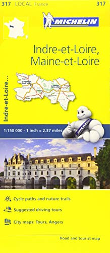 Indre-et-Loire, Maine-et-Loire - Michelin Local Map 317 By Michelin