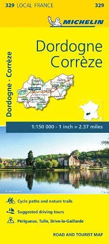 Correze, Dordogne - Michelin Local Map 329 By Michelin