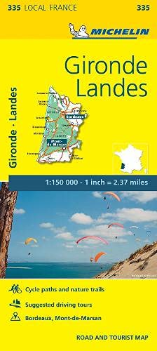 Gironde, Landes - Michelin Local Map 335 By Michelin