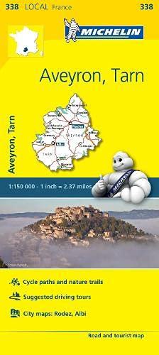 Aveyron, Tarn - Michelin Local Map 338 By Michelin