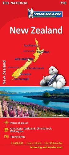 New Zealand - Michelin National Map 790: Map (Michelin National Maps) By Michelin