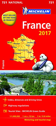 France 2017 National Map 721 By Michelin