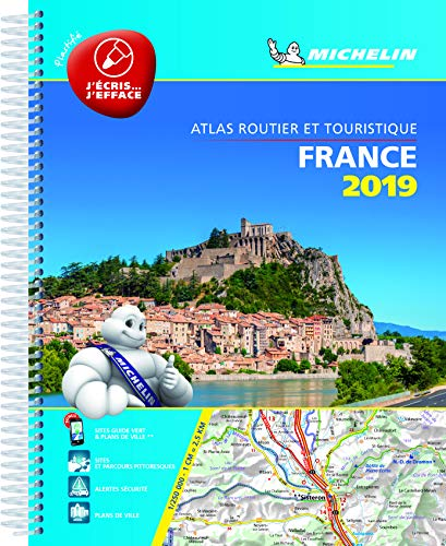 France 2019 -Tourist & Motoring Atlas A4 Laminated Spiral: Tourist & Motoring Atlas A4 spiral (Michelin Road Atlases) By Michelin