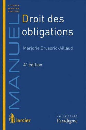 Droit des obligations By Marjorie Brusorio