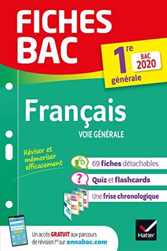 Fiches bac Français 1re générale Bac 2020: inclus oeuvres au programme 2019-2020 (Fiches Bac (20)) By Brangre Touet