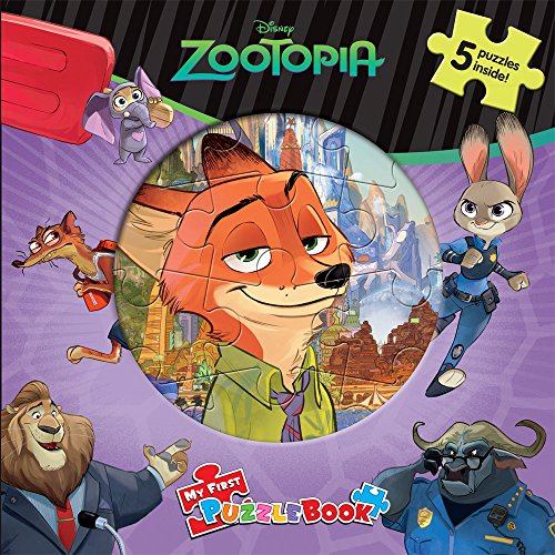 Disney Zootopia My First Puzzle Book By Phidal Publishing Inc.