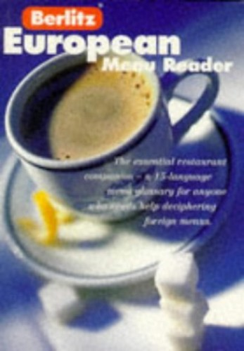 Berlitz European Menu Reader By Berlitz Guides