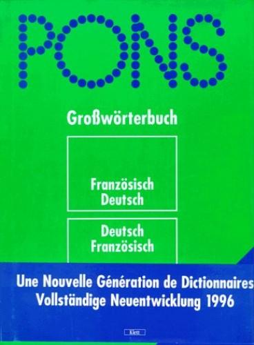 Pons-Grossworterbuch: Franzosisch-Deutsch, mit Daumenregister (French Edition)