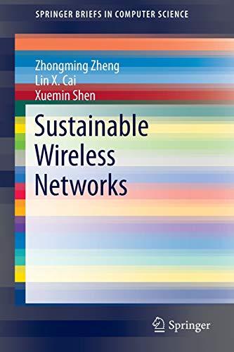 Sustainable Wireless Networks By Zhongming Zheng