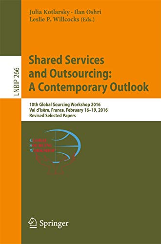 Shared Services and Outsourcing: A Contemporary Outlook By Julia Kotlarsky