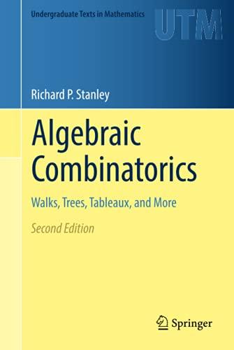 Algebraic Combinatorics By Richard P. Stanley