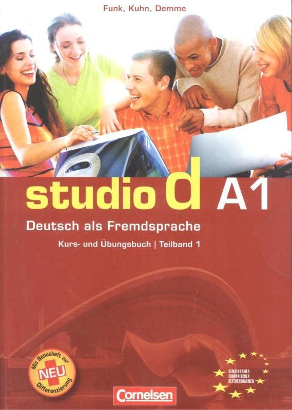 studio d in teilbanden kurs und ubungsbuch mit lerner cd a1 einheit 1 6 by sabine cornelsen. Black Bedroom Furniture Sets. Home Design Ideas