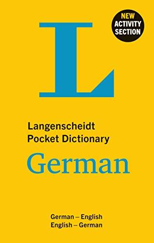 Langenscheidt Pocket Dictionary German (English-German/German-English) By Peter Hartling