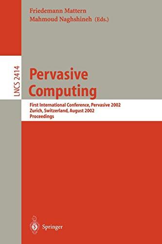 Pervasive Computing By Friedemann Mattern