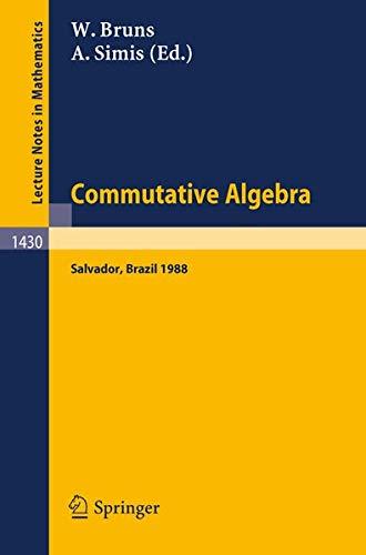 Commutative Algebra By Winfried Bruns