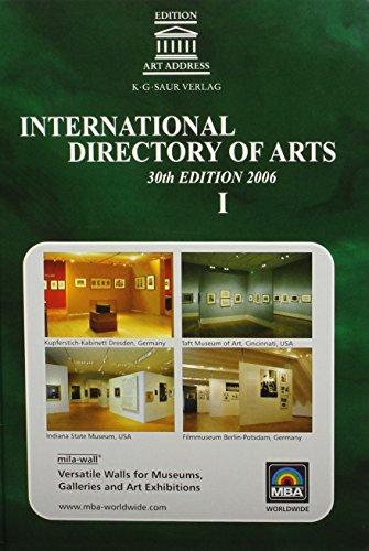 International Directory of Arts 2006/2007 3 Vol. Set By K G Saur Books