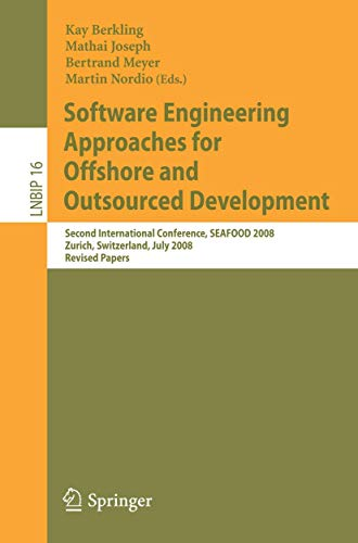 Software Engineering Approaches for Offshore and Outsourced Development By Kay Berkling