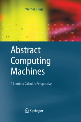 Abstract Computing Machines By Werner Kluge