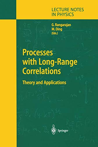 Processes with Long-Range Correlations By Govindan Rangarajan