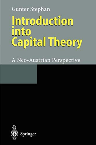Introduction into Capital Theory By Gunter Stephan