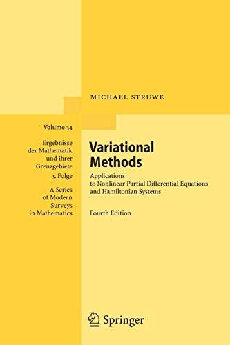 Variational Methods By Michael Struwe