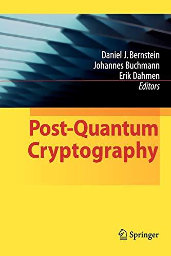 Post-Quantum Cryptography By Daniel J. Bernstein
