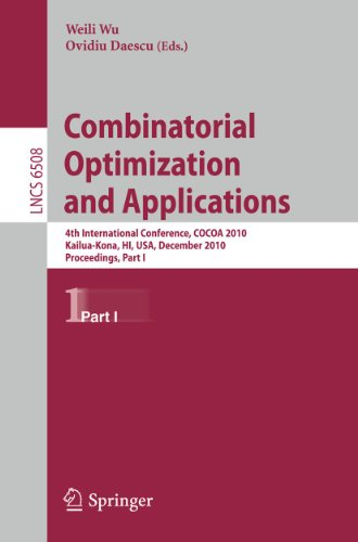Combinatorial Optimization and Applications By Weili Wu