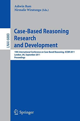 Case-Based Reasoning Research and Development By Ashwin Ram