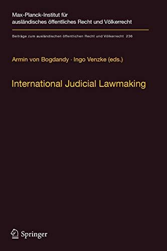 International Judicial Lawmaking By Armin Von Bogdandy