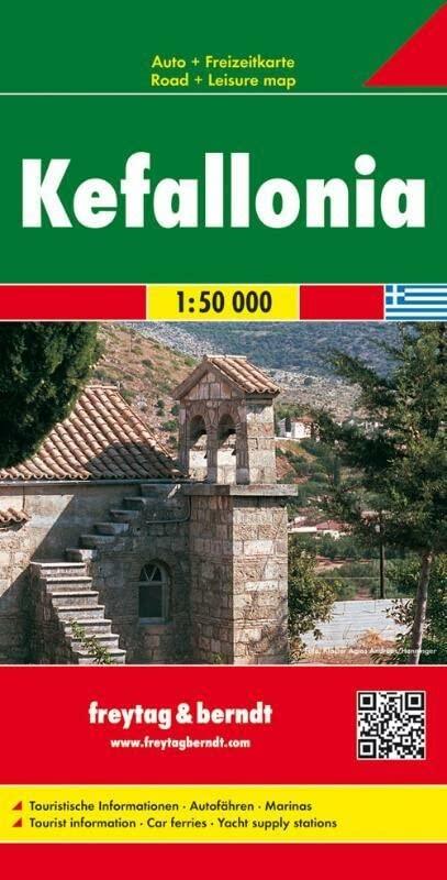 Kefallonia Road Map 1:50 000 By Freytag & Berndt