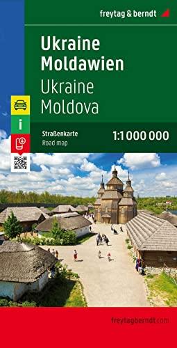 Ukraine - Moldova Road Map 1:1 000 000 By Freytag & Berndt