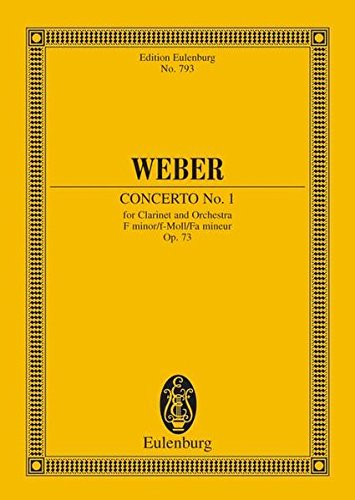 Clarinet Concerto No.1 Op. 73 in f minor. Miniature Score