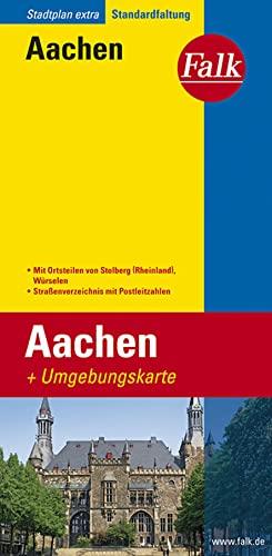 Aken Extra plattegrond: Aachen mit umgebungskarte By Aachen