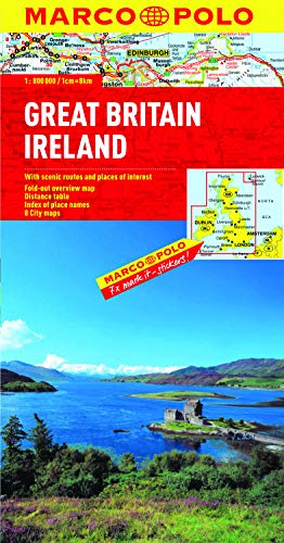 Great Britain & Ireland Map By Marco Polo