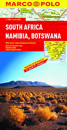 South Africa, Namibia & Botswana Map By Marco Polo
