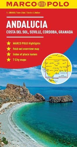 Andalusia, Costa Del Sol, Seville, Cordoba, Granada Marco Polo Map By Marco Polo