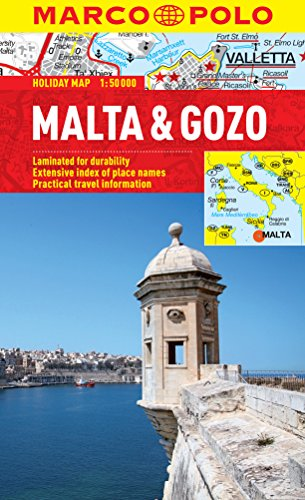 Malta & Gozo Marco Polo Holiday Map By Marco Polo