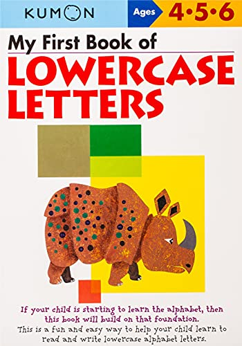 My First Book of Lowercase Letters By Kumon