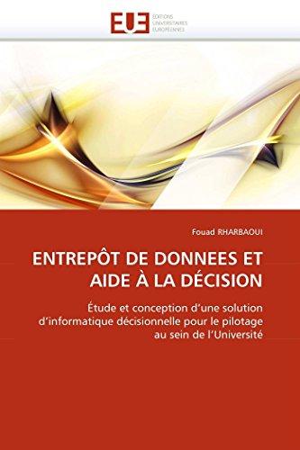 Entrep t de Donnees Et Aide   La D cision By Rharbaoui-F