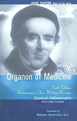 Organon of Medicine By Samuel Hahnemann