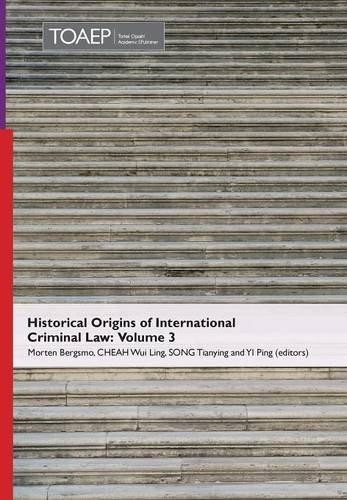 Historical Origins of International Criminal Law By Morten Bergsmo Et Al