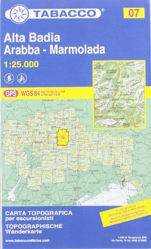 Alta Badia, Arabba, Marmolada By Tabacco Casa Editrice