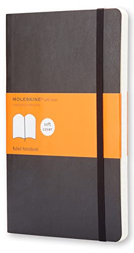 Moleskine Classic Ruled Paper Notebook - Soft Cover and Elastic Closure Journal - Color Black - Large 13 x 21 A5 - 192 Pages By Moleskine
