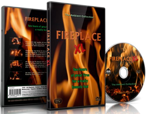 Fire DVD - Fireplace XL - Extra Long Open Hearth Fires with Burning Wood Sounds