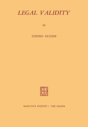 Legal Validity By Stephen Munzer