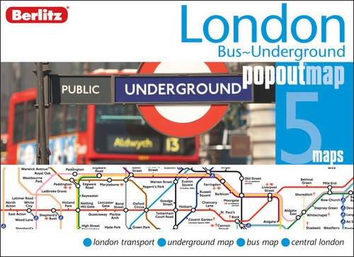 London Bus and Underground Berlitz PopOut Map By Berlitz