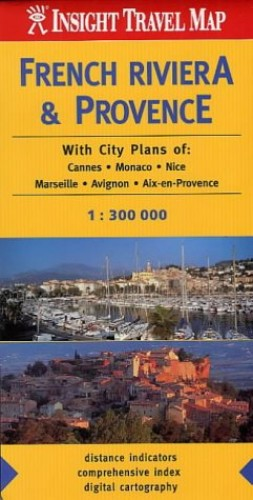 French Riviera and Provence Insight Travel Map