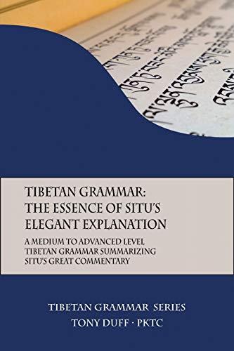 Tibetan Grammar By Tony Duff