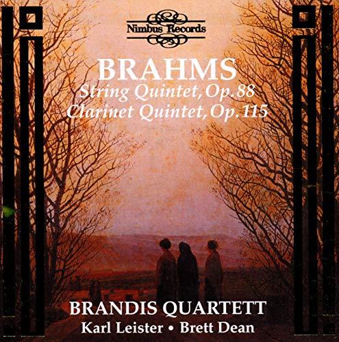 Brandis Qt - Brahms - String Quintet,Op 88; Clarinet Quintet, Op 115