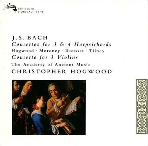Monica Huggett - Bach: Concertos for 3 & 4 Harpsichords; Concerto for 3 Violins /AAM, Hogwood